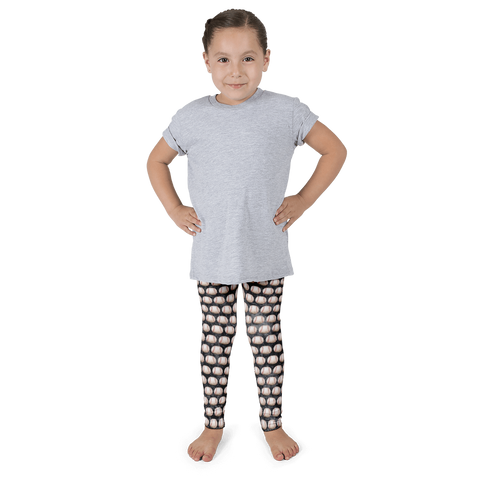 Baseball Scuffed Up Kid's Leggings - Black - Cinnia Boutique