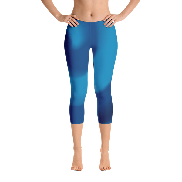 Ocean Blues Capri Leggings - Cinnia Boutique