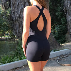 Black Onyx Shorts Jumpsuit