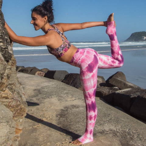 Pink Waves Xlong Leggings