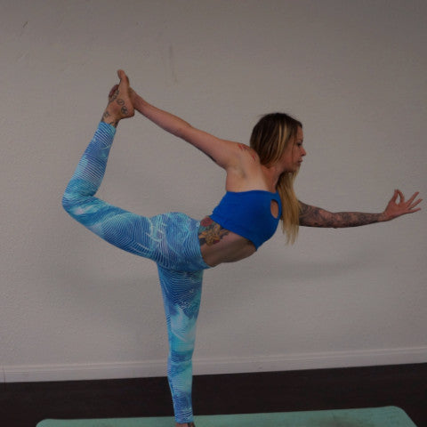 Blue leaf Leggings