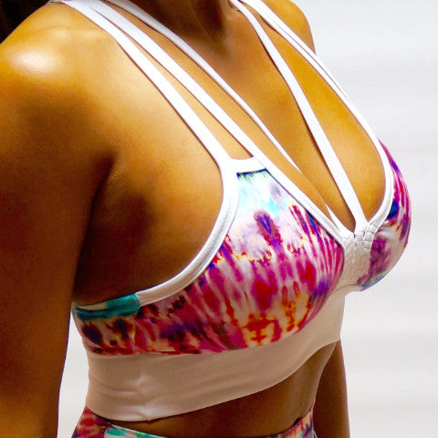 Color Collision Sports Bra