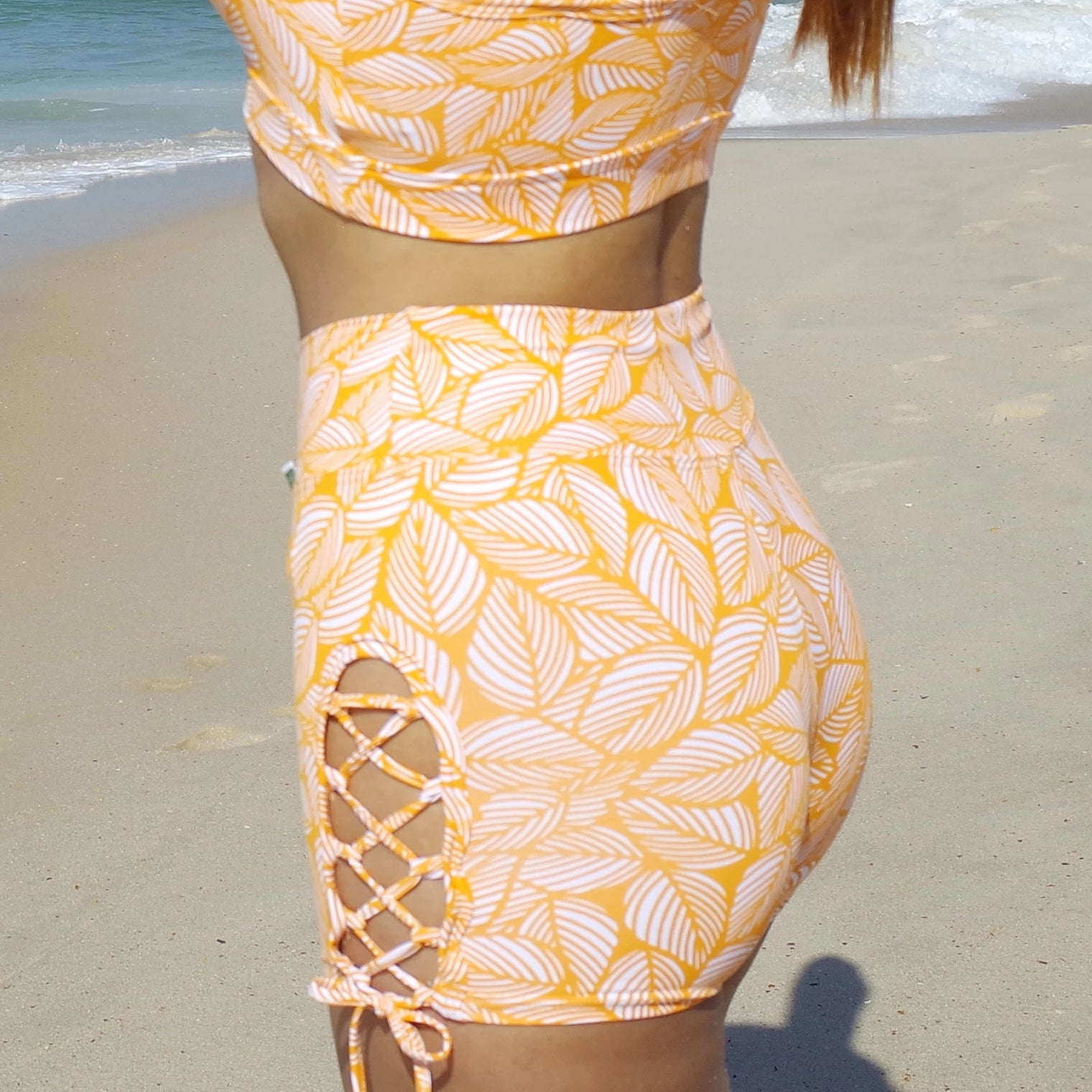 Yellow Bliss  Crossing Sides Shorts