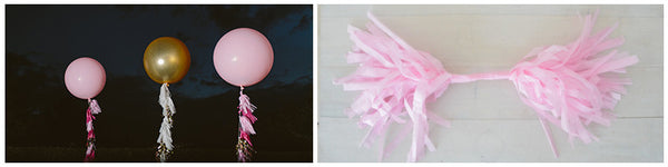 Make Your Own Wedding Balloon's Tassel Garlands