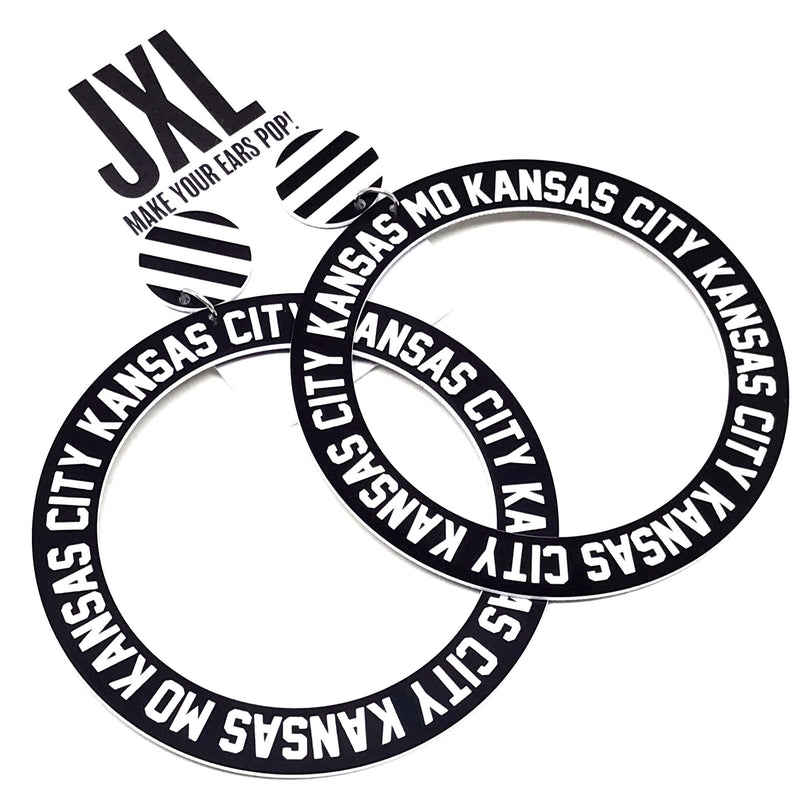 KCMO Large Hoop Earrings (Studs)