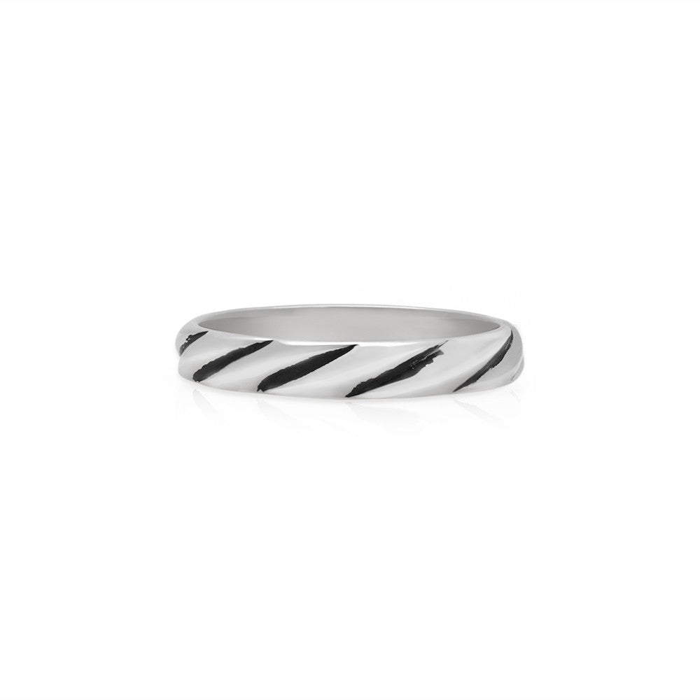 Chequar Stack Ring