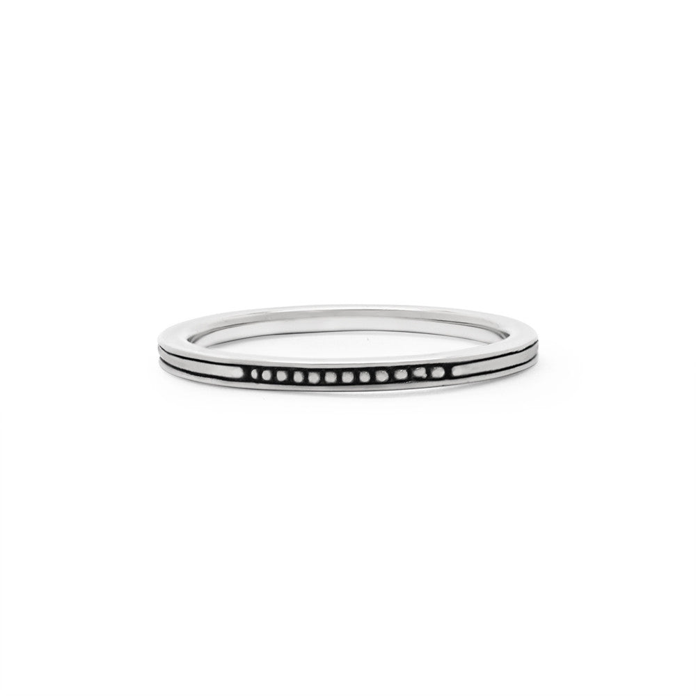 Thin Braille Stack Ring