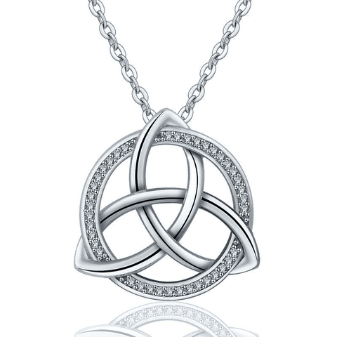 925 Sterling Silver Triquetra Knot Pendant