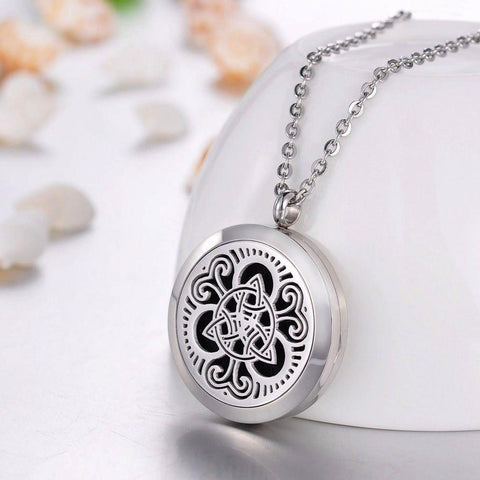 Celtic Triquetra Essential Oil Diffuser Locket