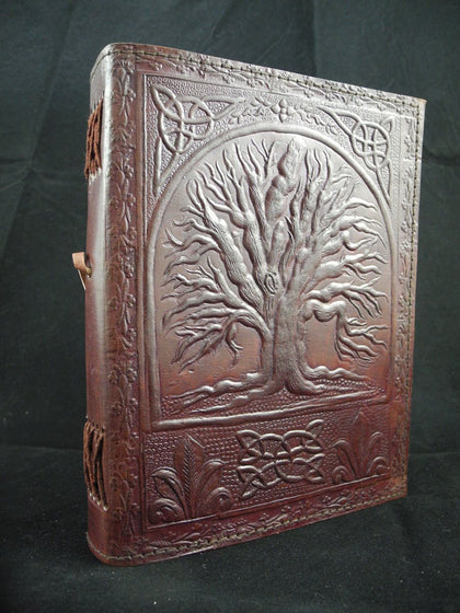 Handmade Pagan Wiccan Leather Book of Shadows Diary