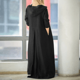 Tebuti Long Sleeve Hooded Autumn Dress