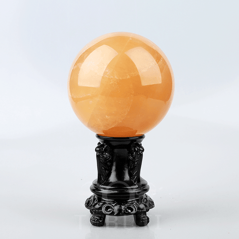 Natural Orange Calcite Crystal Ball
