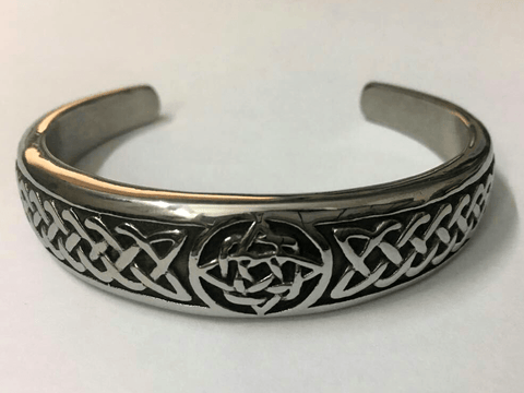 Celtic Bangle Cuff Bracelet