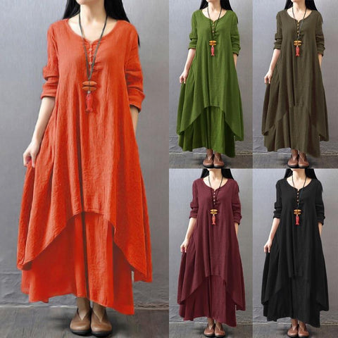 Tebuti Autumn Loose Long Dress