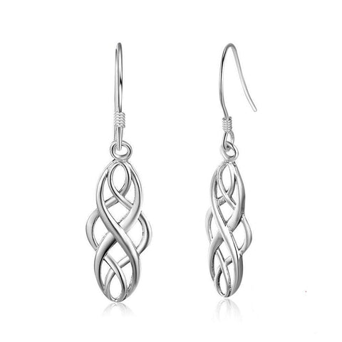 Celtic Sterling Silver Bangle Earrings