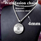 Nordic Tree Of Life Stainless Steel Amulet