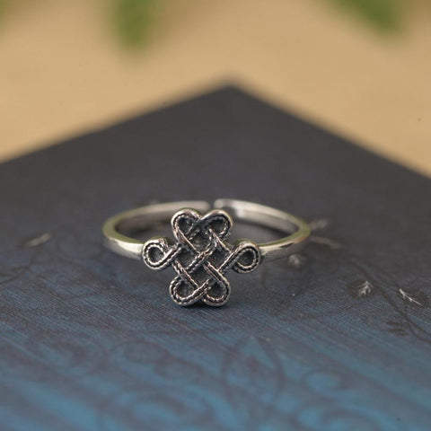 Open Sterling Silver Celtic Knot Ring
