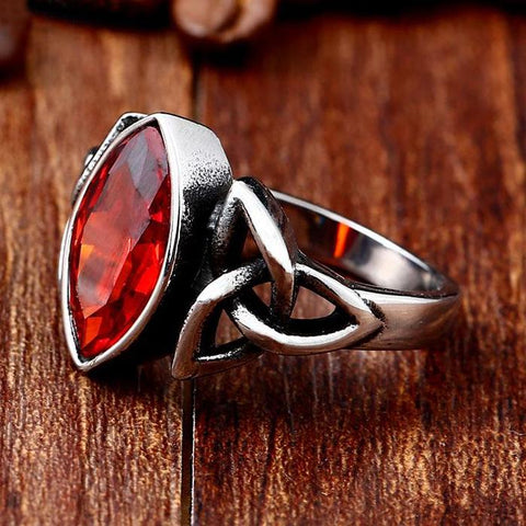 Celtic Triquetra Stainless Steel Zircon Ring