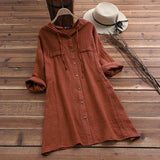 Tebuti Long Summer/Autumn Hooded Shirt