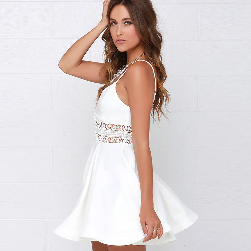 Fresh Take White Party Dress