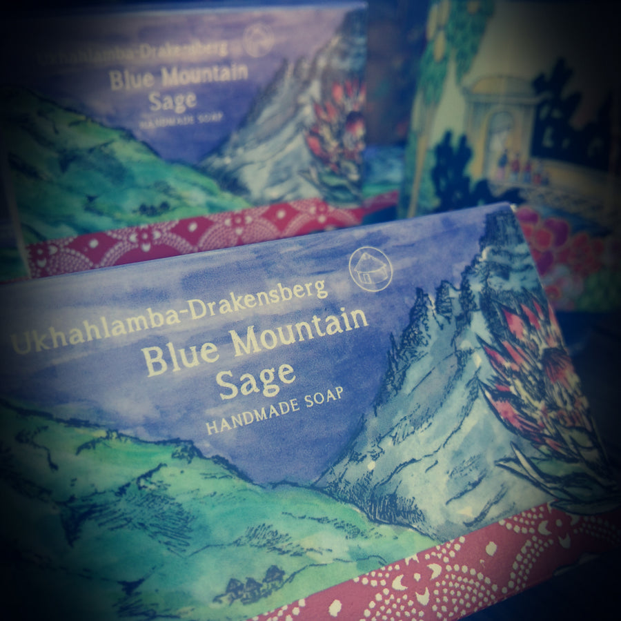 blue mountain sage handmade soap