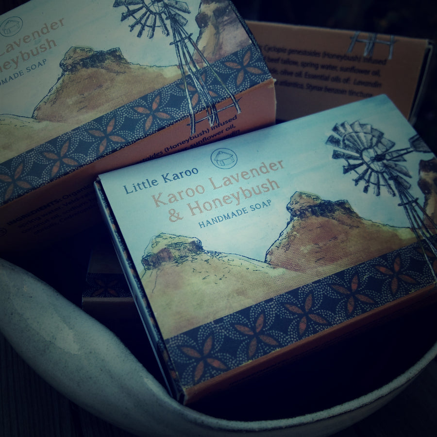 karoo lavender and honeybush handmade soap