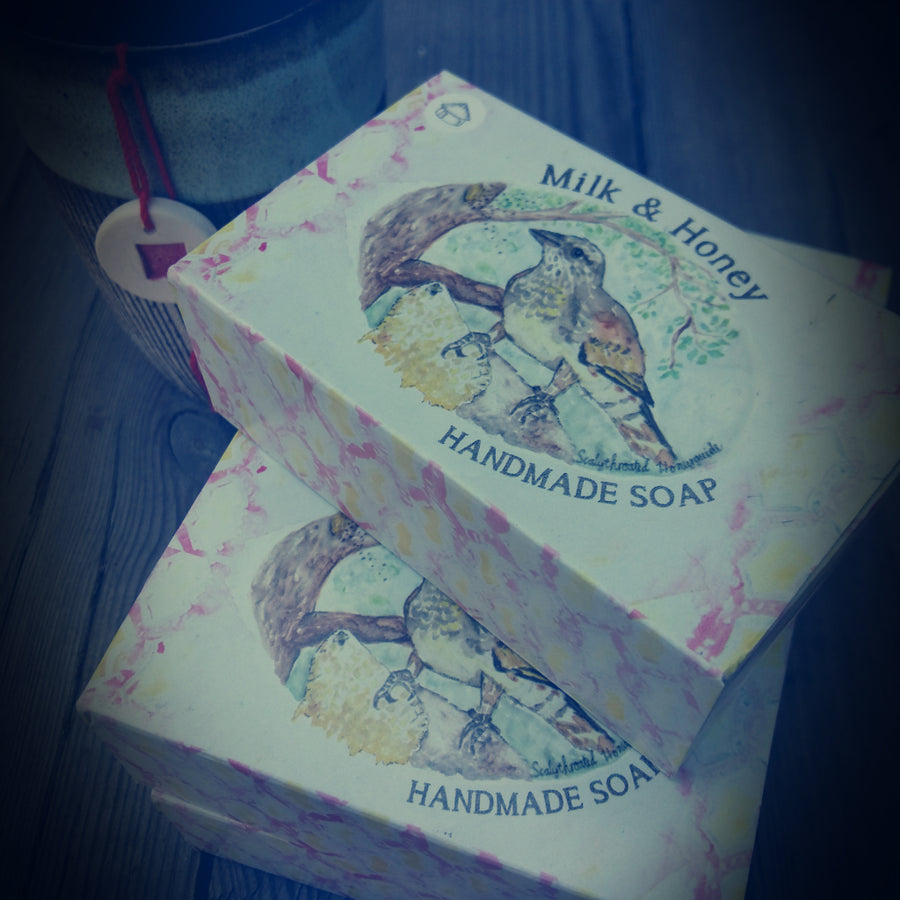 milk and honey with geranium handmade soap