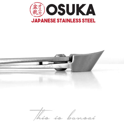 OSUKA Bonsai Branch Cutters 180mm Shohin Silver – Japanese Stainless Steel