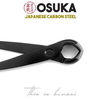 OSUKA Bonsai Knob Cutters 180mm Shohin Black – Japanese Carbon Steel