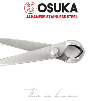 OSUKA Bonsai Knob Cutters 180mm Shohin Silver – Japanese Stainless Steel