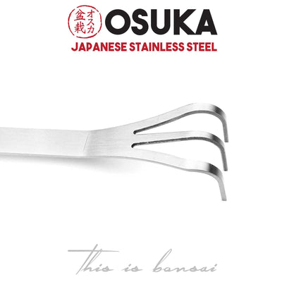 OSUKA Bonsai Rake with Spatula – 255mm – Japanese Stainless Steel