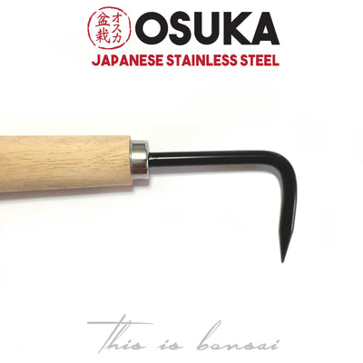 OSUKA Bonsai Root Hook – Single 220mm – Japanese Stainless Steel