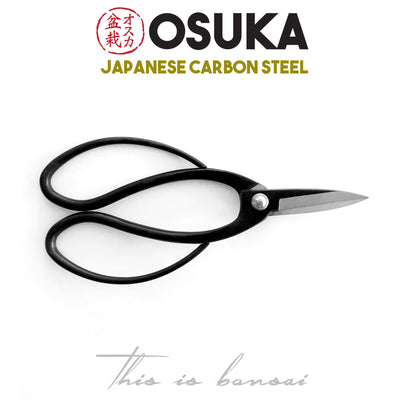 OSUKA Bonsai Root Scissors 195mm Black – Japanese Carbon Steel