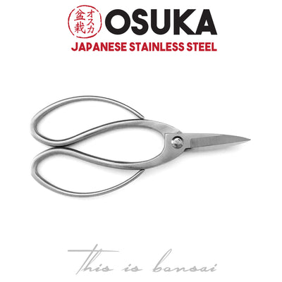 OSUKA Bonsai Root Scissors 195mm Silver – Japanese Stainless Steel