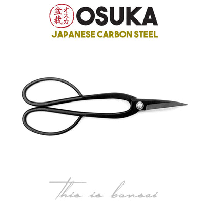 OSUKA Bonsai Shears 200mm Black – Japanese Carbon Steel