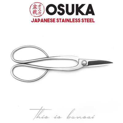 OSUKA Bonsai Shears 200mm Silver – Japanese Stainless Steel