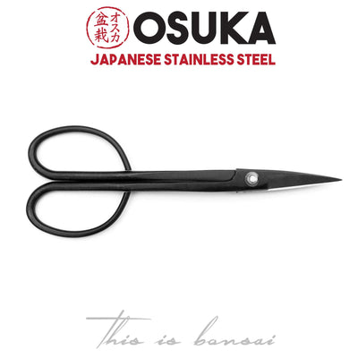 OSUKA Bonsai Scissors 210mm Black – Japanese Stainless Steel