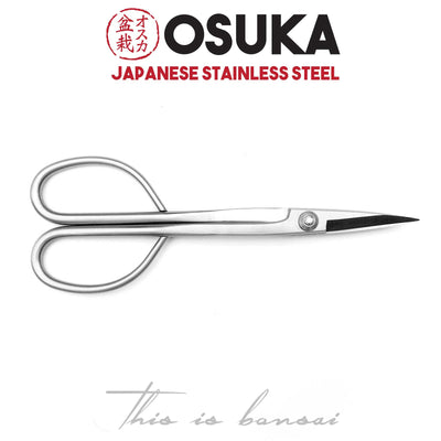OSUKA Bonsai Scissors 210mm Silver – Japanese Stainless Steel