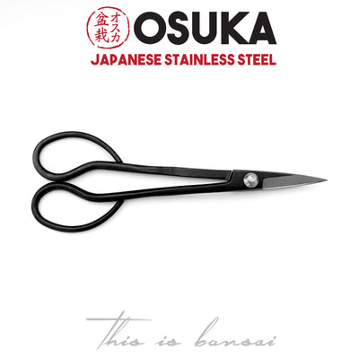 OSUKA Bonsai Trimming Scissors 180mm Black – Japanese Stainless Steel