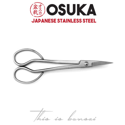 OSUKA Bonsai Trimming Scissors 180mm Silver – Japanese Stainless Steel