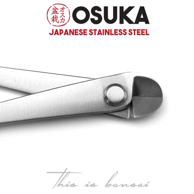 OSUKA Bonsai Wire Cutters 210mm Silver – Japanese Stainless Steel