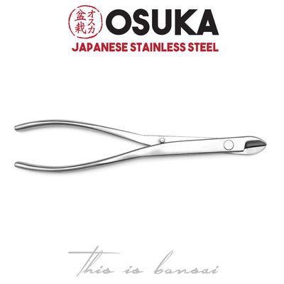 OSUKA Long Bonsai Wire Cutters 210mm Silver – Japanese Stainless Steel