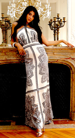 Black & White Paisley