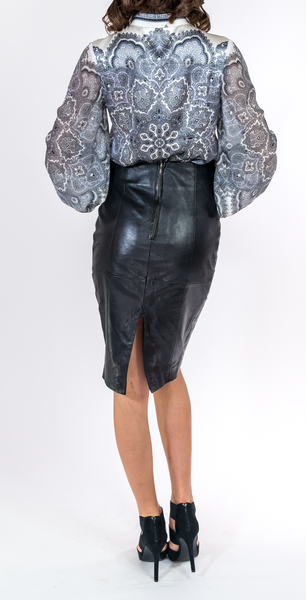 Black and White Paisley Blouse - trishas-world
