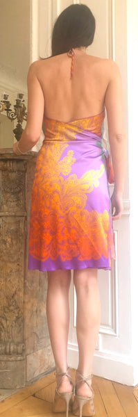 Purple Sunrise Short Wrap Dress