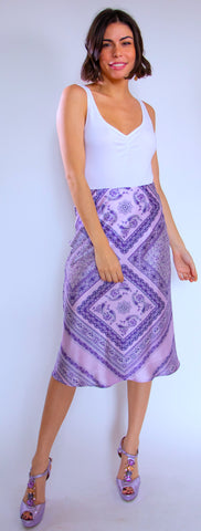 Purple White Bandana Skirt 509