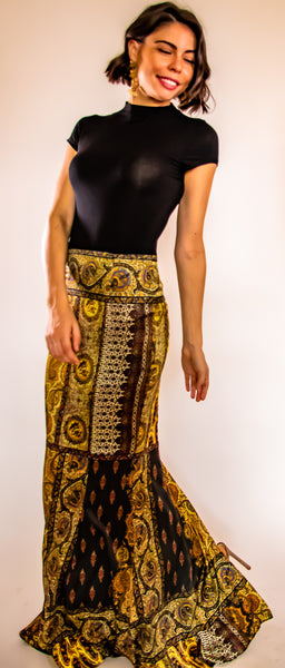Pasha Bronze Long Skirt
