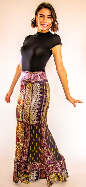 Pasha Purple Long Skirt
