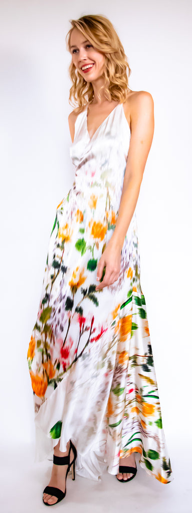 Bouquet Wrap Dress