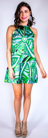 Riveria Green Dress
